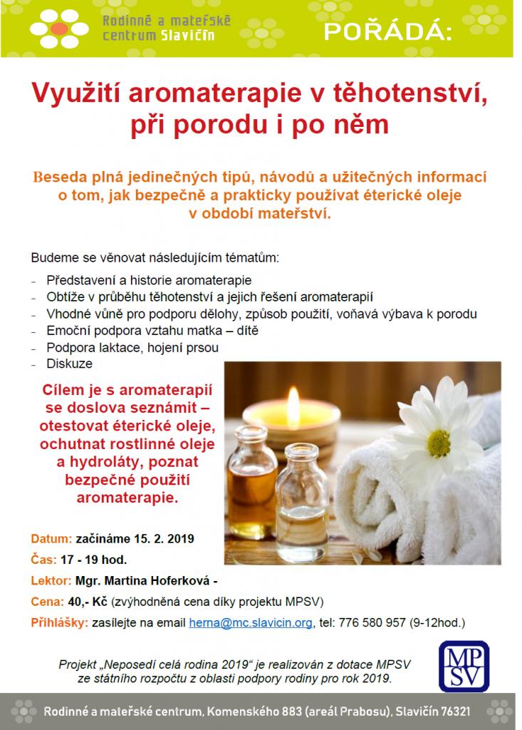 aromaterapie plakát 2019