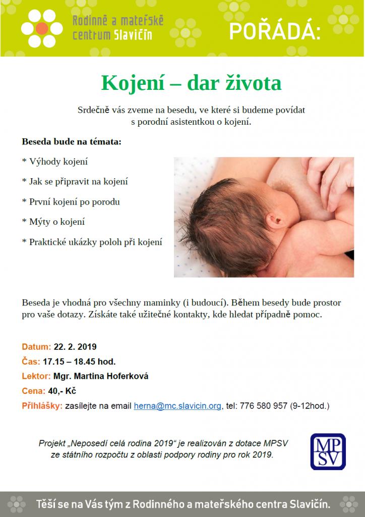 plakát kojení 22.2.2019