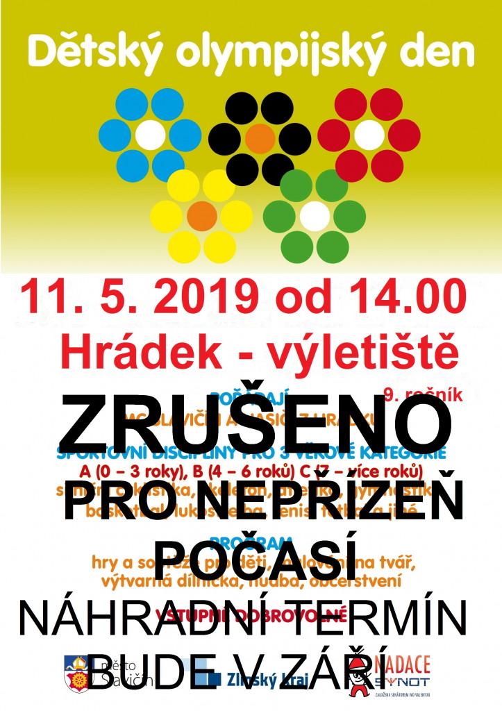 Olympiada 2019 plakát 2 ZRUŠENO